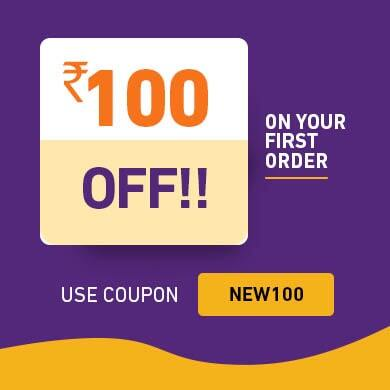 Rs 100 off on first order