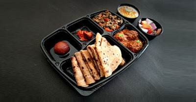 A variety of North Indian and South Indian classic combo meals